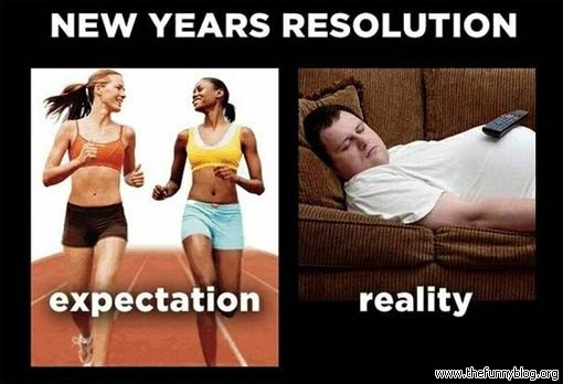 New Year's resolutions reality