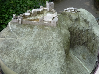 Scale model of Peveril/Peak Castle in Derbyshire, England, where some of my novel's action takes place.
