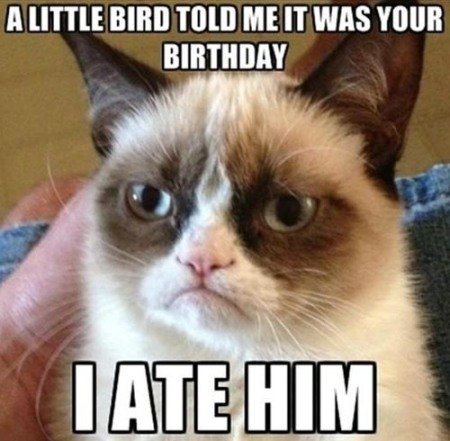 Grumpy Cat's birthday greeting