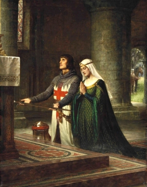 The Dedication, by Edmund Leighton (1908).