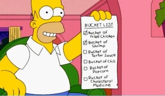 Homer bucket list