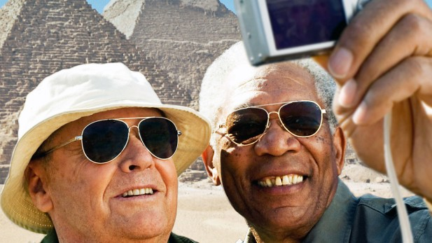 Jack Nicholson and Morgan Freeman in The Bucket List (2007).