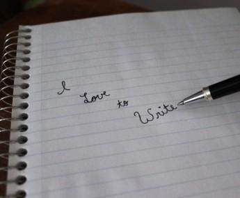 I love to write