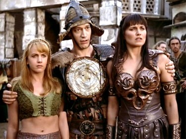 Gabrielle, Joxer, and Xena