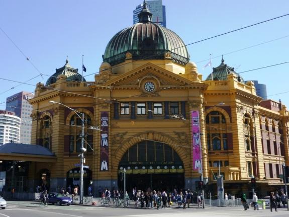 Flinders Street Station transit hub, Melbourne, Australia