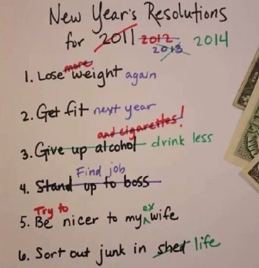 Rearranging New Year's Resolutions