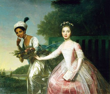 Historical painting of Dido and Elizabeth, 1779.
