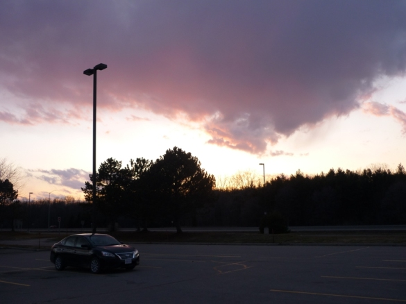 Sunset at a Highway 401 rest stop