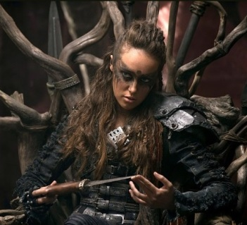 Commander Lexa, a gay character from TVs The 100