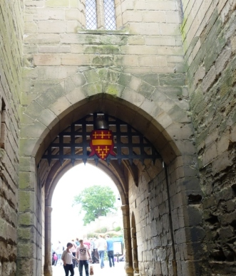 Gatehouse and portcullis of Warwick Castle, Warwickshire, England