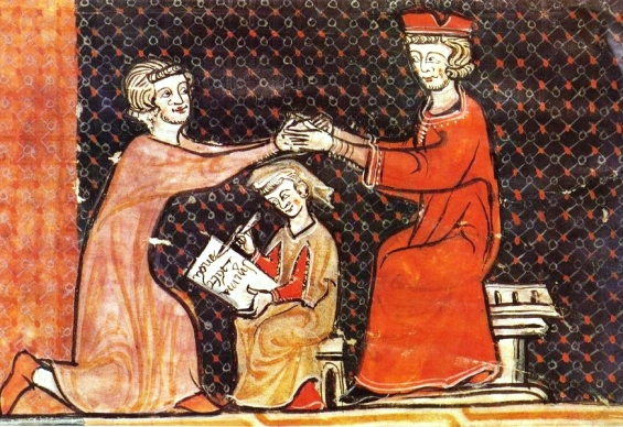 Medieval commendation ritual