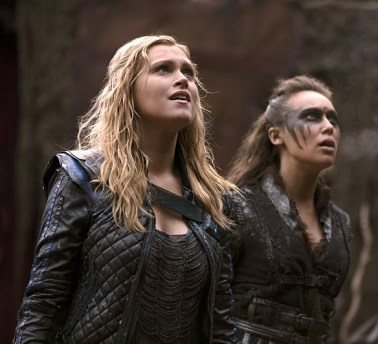 Two favourite characters from The 100: Clarke (L) and Lexa (R)