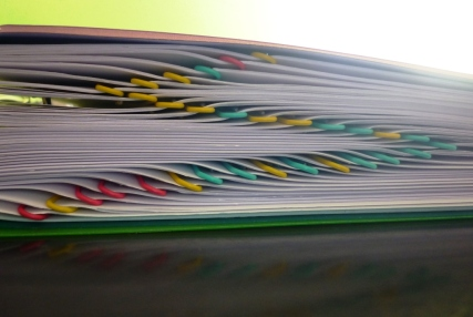 Colour-coded chapters. All 31 of them.
