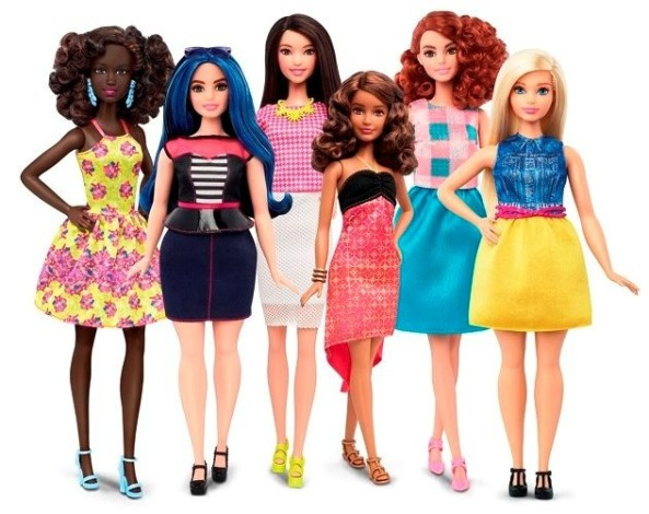 "Mattel's new ""Fashionista"" line of Barbies"