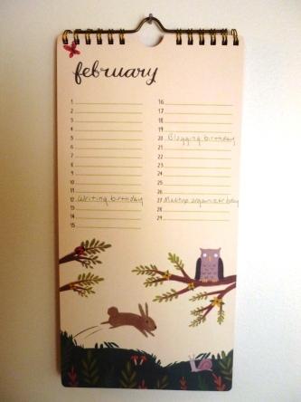 Perpetual calendar February