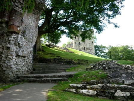 """On location"" at the ruins of Peveril/Peak Castle in Derbyshire, England"