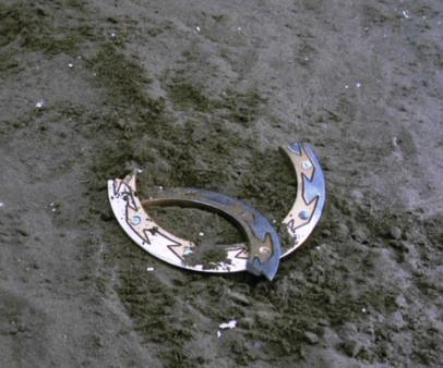 Xena's signature weapon, in pieces