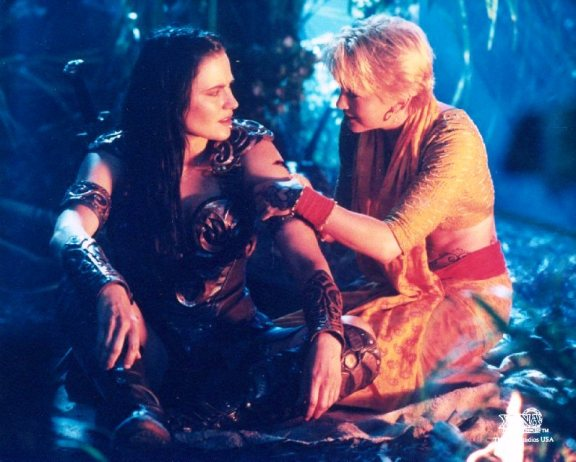 Xena and Gabrielle are following different spiritual paths