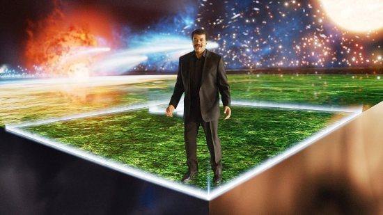 Dr. Neil deGrasse Tyson, in a scene from Cosmos