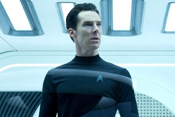 Benedict Cumberbatch in Star Trek: Into Darkness, playing the role of an important non-white character from the Star Trek universe