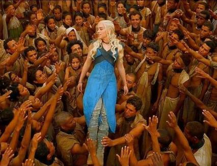 Daenerys Targaryen from TV's Game of Thrones, the liberator of slaves