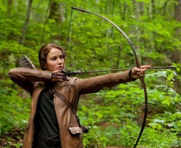 "Katniss Everdeen, from the Hunger Games movie, was described as ""olive-skinned"" in the book"