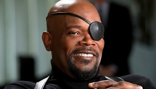 Samuel L. Jackson starring as a racebent Nick Fury