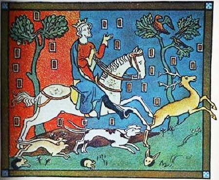 King John hunting deer