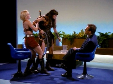 Xena's first ever on-air interview doesn't go well